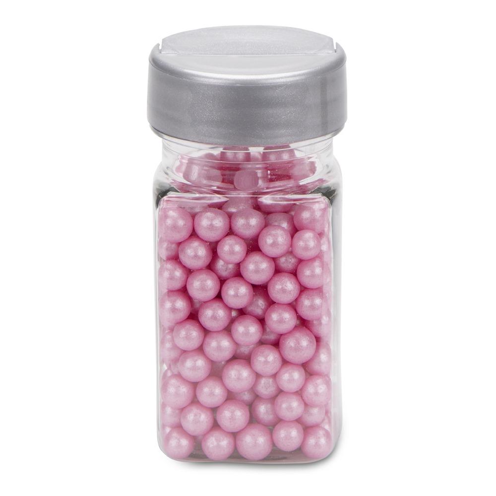 Perlas de Azúcar Rosa Nacarado 6 mm