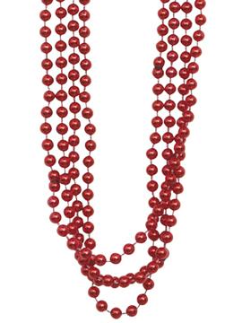 Set 4 Collares Perlas Rojas