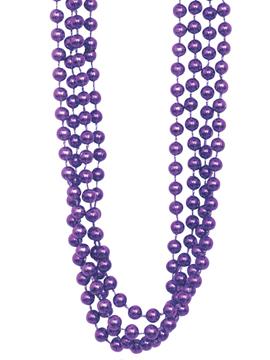 Set 4 Collares Perlas Violetas