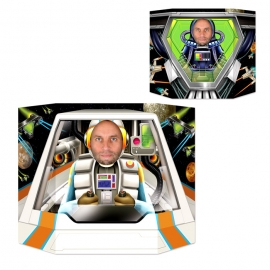 Photocall Doble Cara Piloto Nave Espacial
