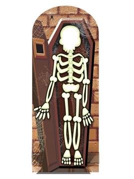 Photocall Esqueleto en Ataúd 180 cm