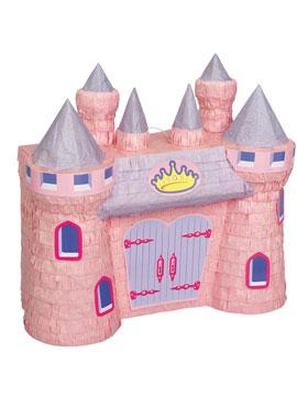 Piñata Infantil Castillo Rosa