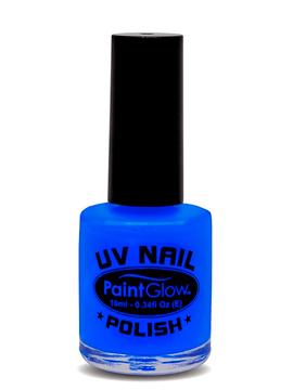 Pintura de Uñas Azul Intenso Neón UV