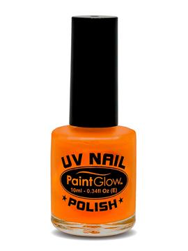 Pintura de Uñas Naranja Neón UV