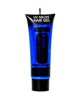 Pintura en Gel para el Pelo Azul Intenso Neón UV