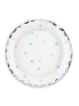 Set de 6 platos con estrellas de colores de 18 cm