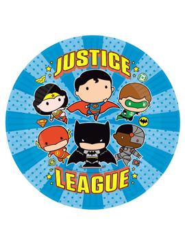 Platos de Papel Liga de la Justicia Comic 23 cm 8 ud