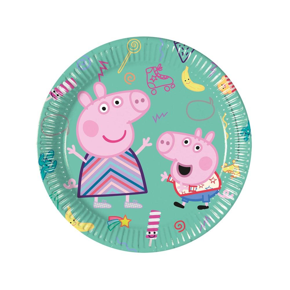 Juego de 8 Platos Peppa Pig y George 19 cm