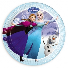 Platos Frozen Elsa, Anna y Olaf 8 Unidades