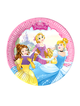Set de 8 Platos Princesas Disney 20 cm