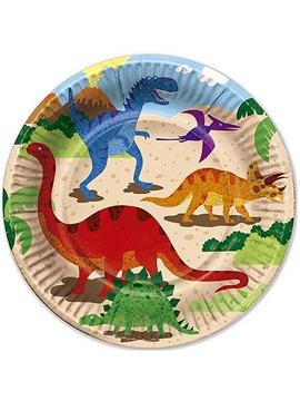 Juego de 6 Platos Dino Island 22 cm