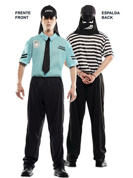 Disfraz Doble FunPolicía Ladrón Adulto