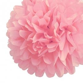 Pack de 4 Pompones de Seda 35cm color Rosa