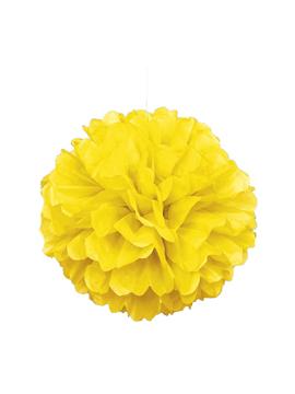 pompón amarillo neón