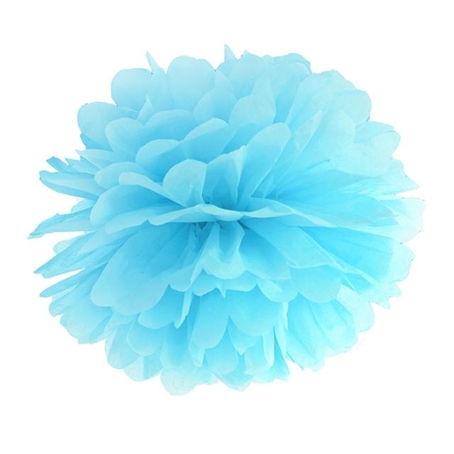 Pompón Azul Cielo de papel 35 cm