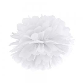 Pompón Blanco de papel 35 cm