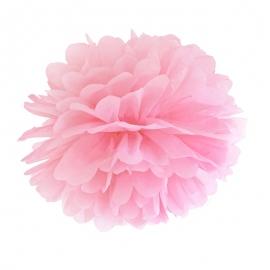Pompón Rosa de papel 35 cm