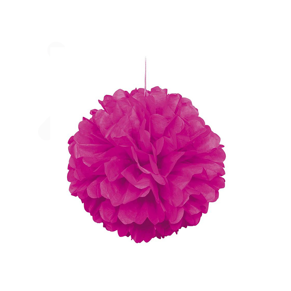 pompón rosa neón 40 cm