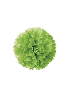 pompón verde lima de 40 cm
