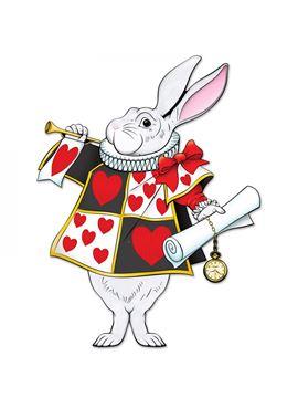 Póster Conejo Blanco Articulado Alicia en el País de las Maravillas