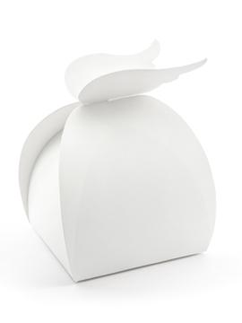 Set de 10 cajas blancas con alas para comuniones