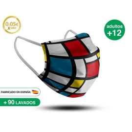 Mascarilla Reutilizable de Tela - Adulto Modelo 28