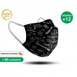 Mascarilla Reutilizable de Tela - Adulto Modelo 12