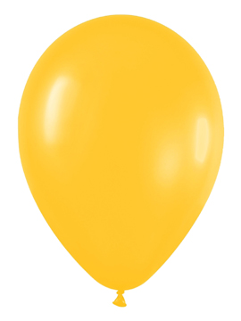 Pack de 50 globos amarillo girasol