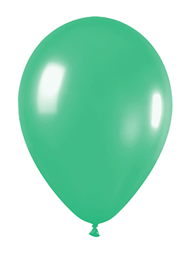 Pack de 12 Globos Verde Mate 30 cm