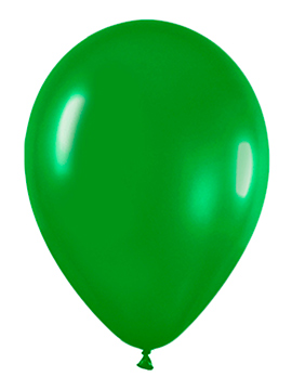 Pack de 10 globos verde selva