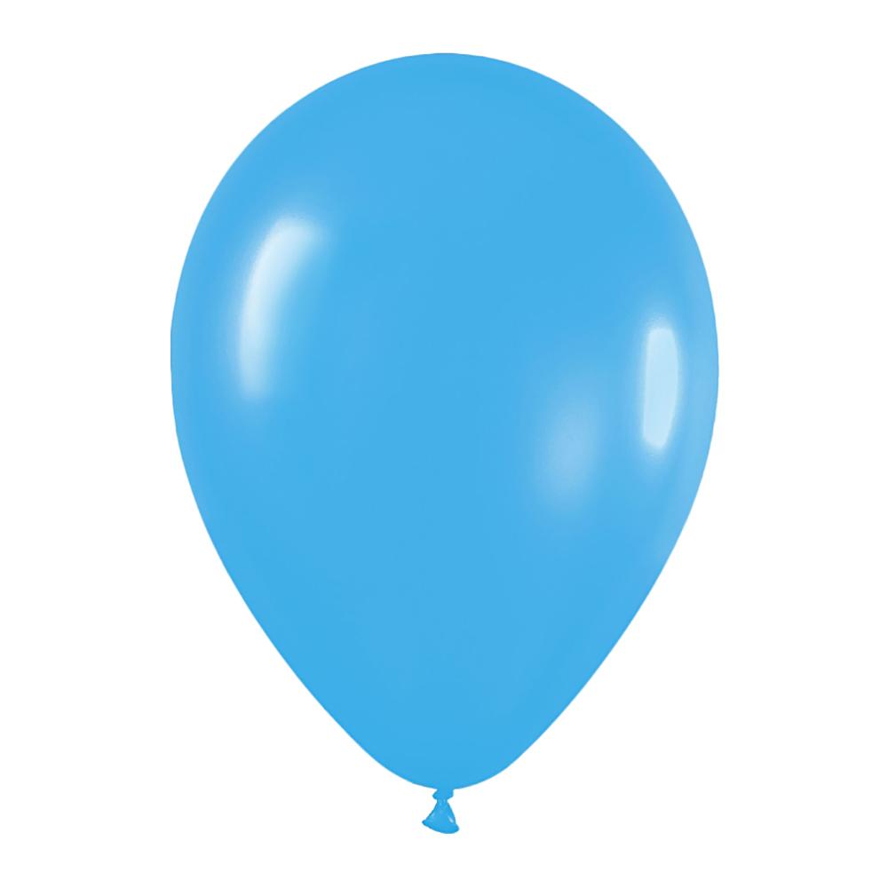 Pack de 10 Globos Azul Mate 30 cm