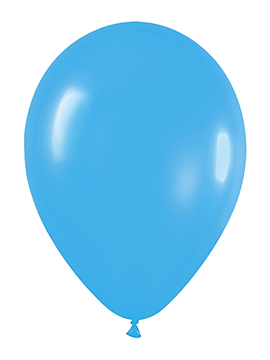 Pack de 100 globos color Azul Mate 12cm