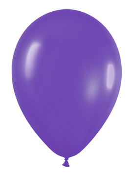 Pack de 100 globos color Violeta Mate 12cm