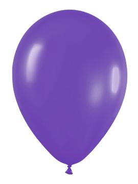 Pack de 100 globos color Violeta Mate 12cm