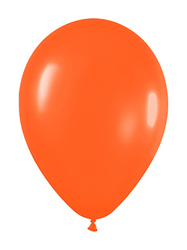 Pack de 100 globos color Naranja Mate 12cm