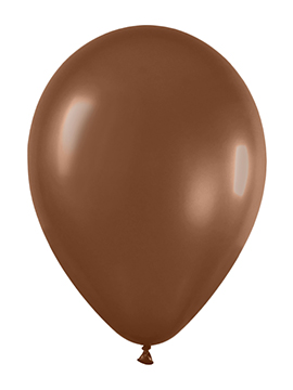 Pack de 50 globos chocolate mate