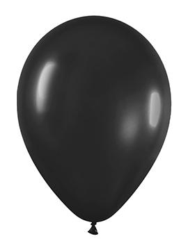 Pack de 100 globos color Negro Mate 12cm