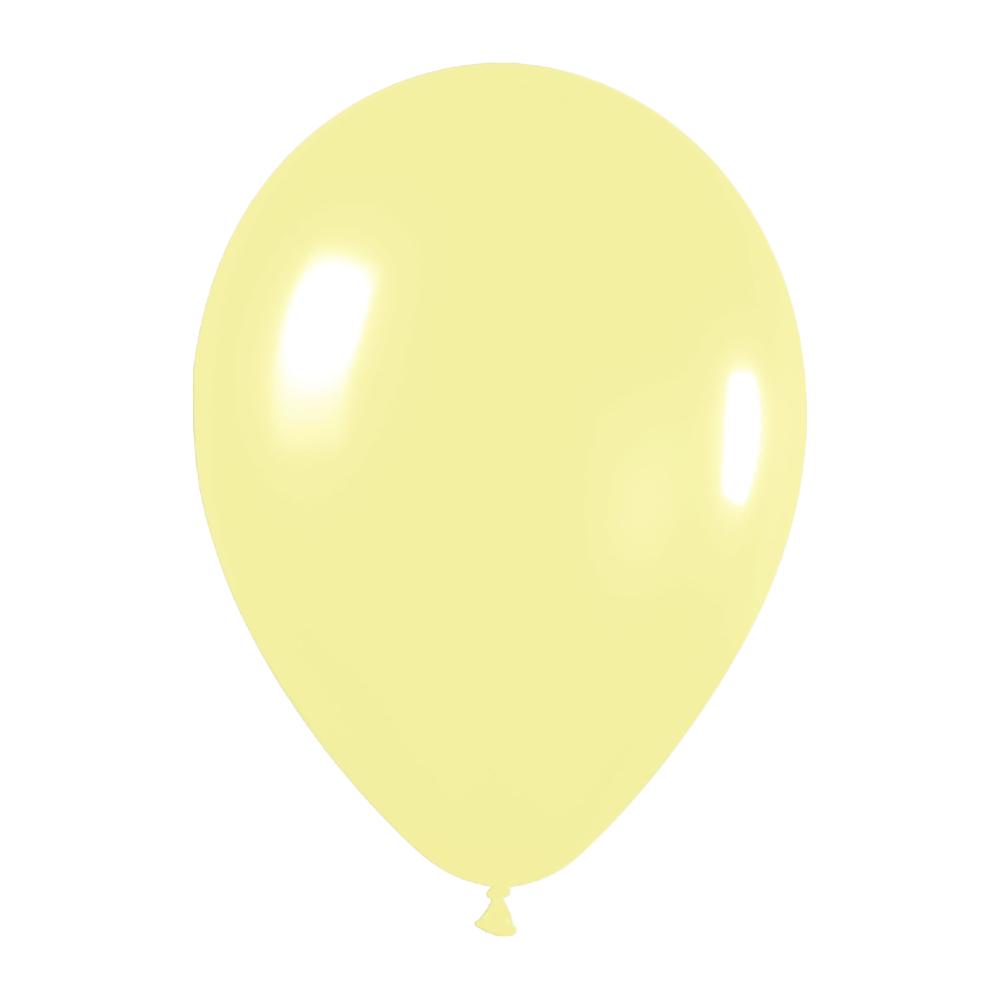 Pack de 12 Globos Amarillo Pastel 30 cm
