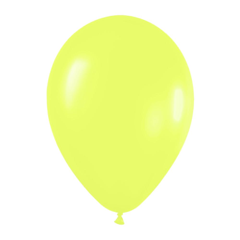 Pack de 10 globos amarillo neon