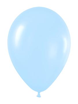 Pack de 12 Globos Azul Satinado 30 cm