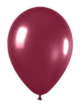 Pack de 50 globos vino tinto metalizado