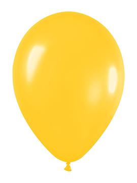 Pack de 50 globos amarillo metalizado