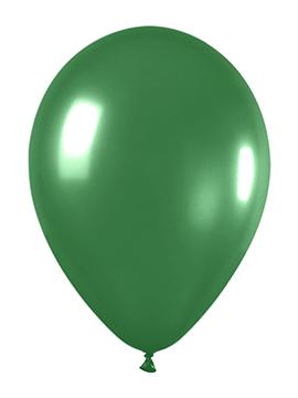 Pack de 50 globos verde metalizado