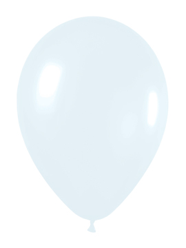 Pack de 10 Globos color Blanco Mate