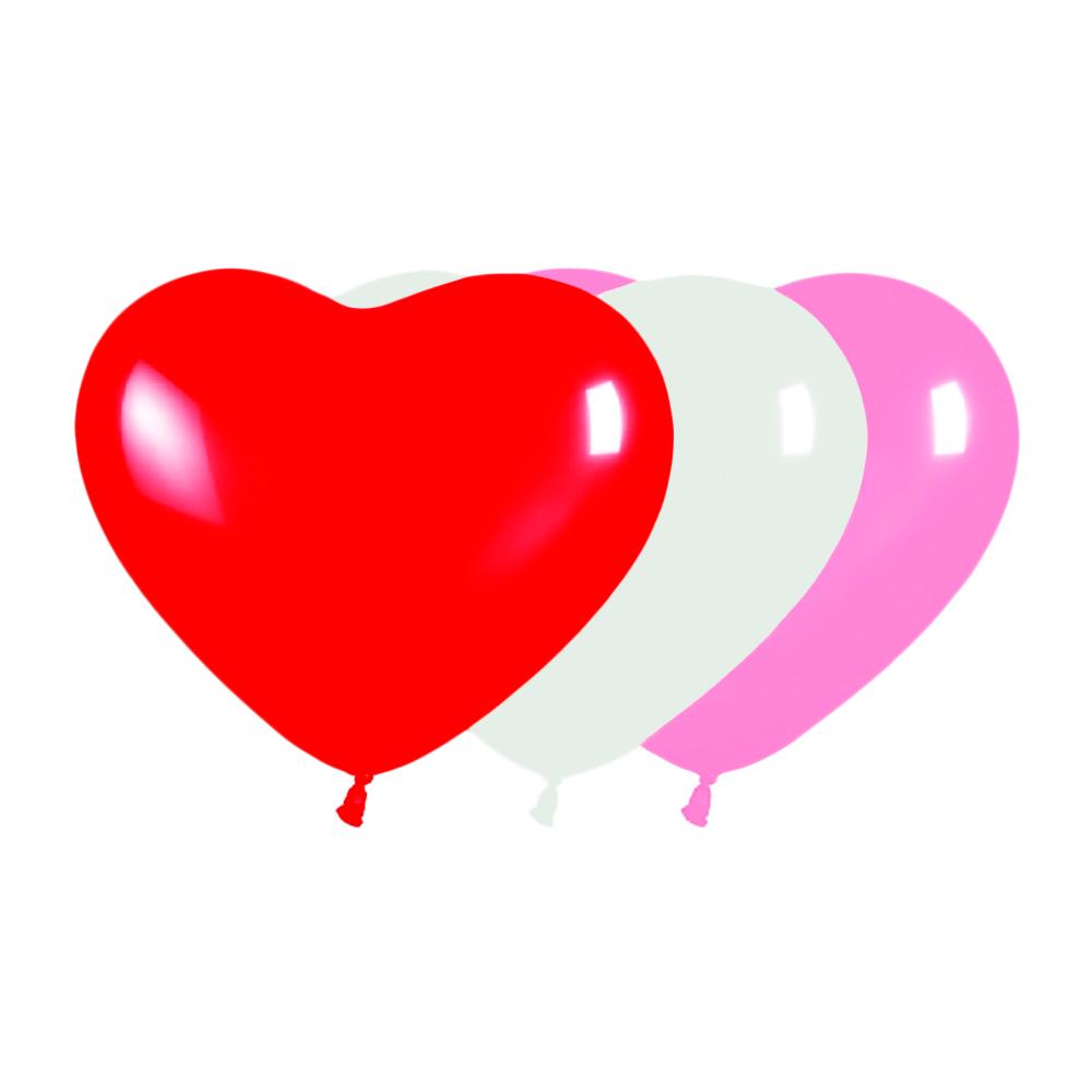 Globos con Forma de Corazón 10 ud 15 cm