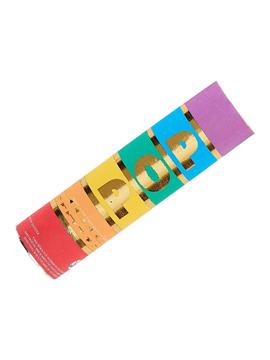 Cañón de confetti de papel multicolor de 15 cm x 4 cm