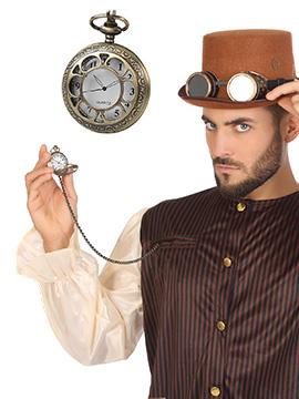 Reloj de Bolsillo Steampunk Dorado
