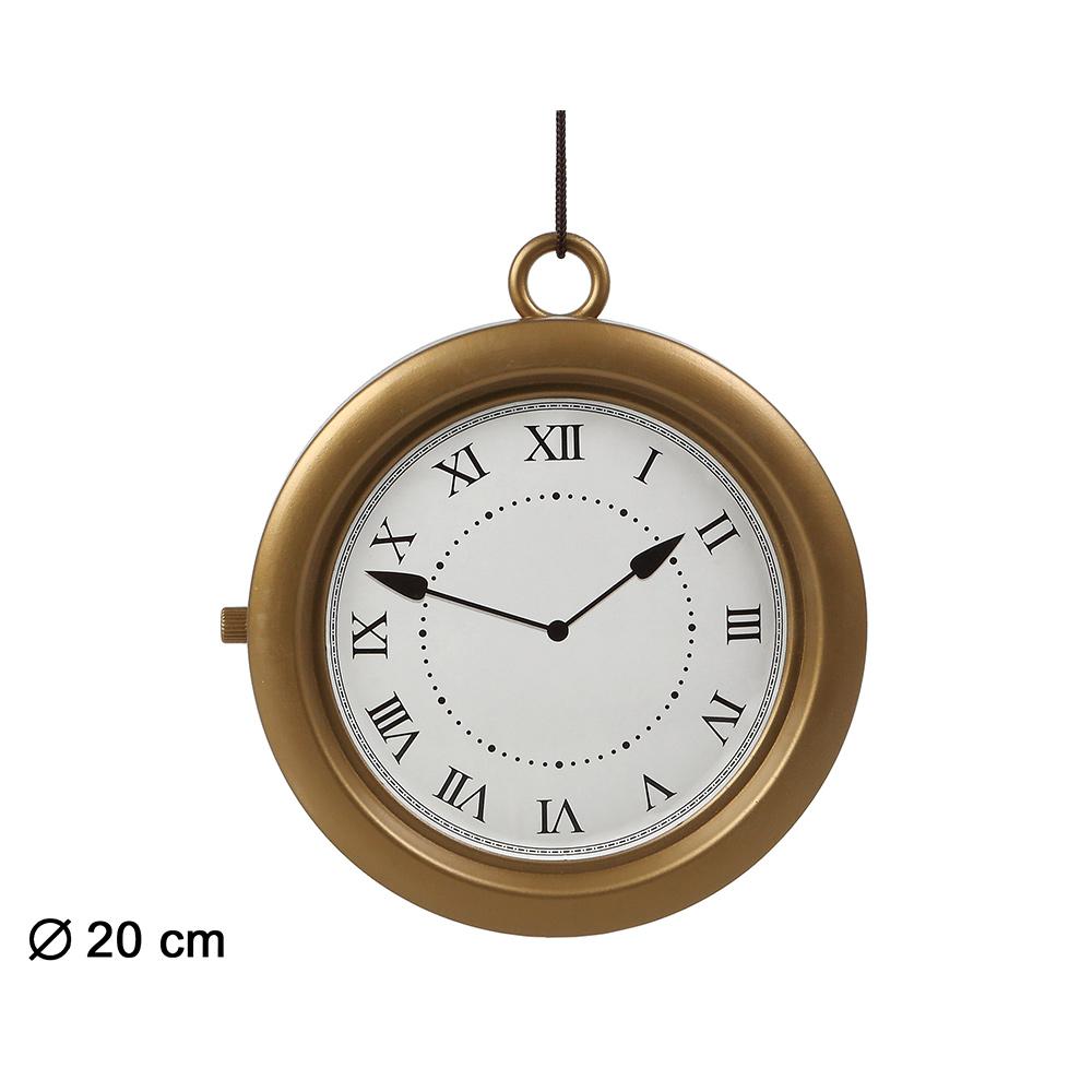 Reloj Dorado 20 cm