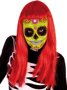 Máscara Calavera Katrina Verde