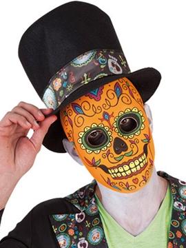 Máscara Calavera Katrina Naranja